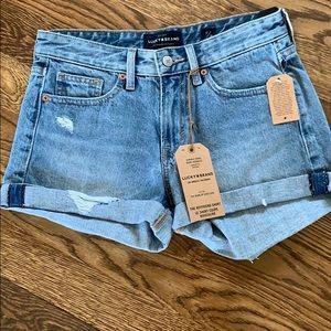 NWT Lucky Boyfriend Shorts Size 0/25